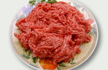 Minced lamb meat