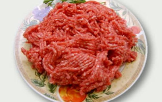 Minced lamb meat