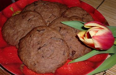 Cocoa biscuits with chocolate
